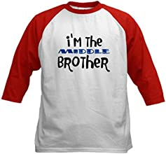 CafePress I39m The Middle Brother Kids Baseball Jersey