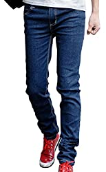 XTX Mens Slim Fit Casual Pants Skinny Stretch Pencil Jeans Trousers