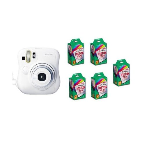 Fuji Instax Mini 25 Instant Camera plus 5 twin packs of film (100 images)