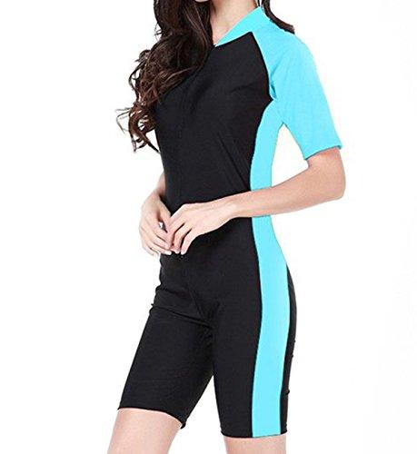 [Tueenhuge Fashion Women Ladies Girls One Piece Short Sleeve Swimsuit Swimwear Unitard Legsuit Swimming] (Swimming Costume For Womens)