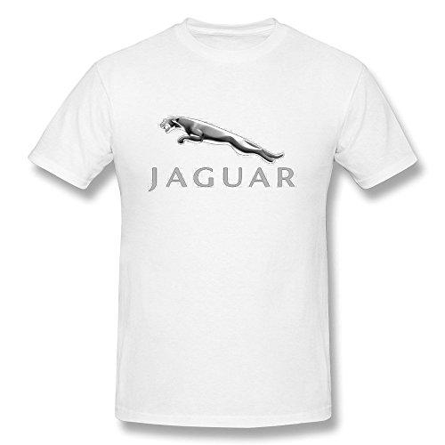 Van Men's British Royal Family Luxury Car Jaguar Brand Logo Tees L White