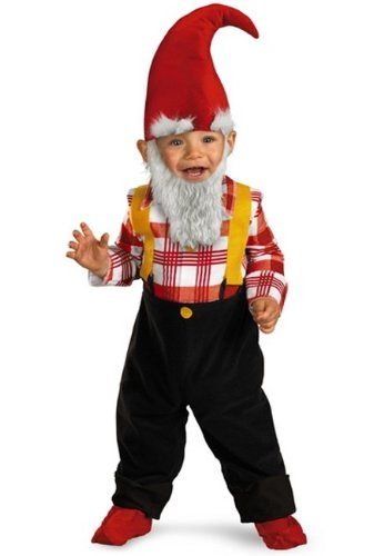 Garden Gnome Halloween Costume For Toddler Boys Size 3T-4T/3-4 By Disguise