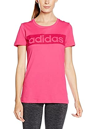 adidas Camiseta Manga Corta Ess Linear (Rosa)