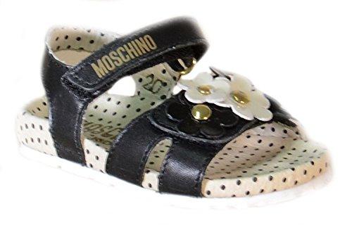 Moschino - Moschino Sandaletti Bambina Neri Pelle Strappi 25434 - Nero, 20