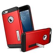 iPhone 6 Plusケース, SpigenR [ スリム+保護力+個性 ] スリム アーマー Apple iPhone (5.5) アイフォン 6 プラス カバー (国内正規品) (エレクトリック・レッド 【SGP10902】)