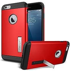iPhone 6 Plus ケース, Spigen® [ スリム+保護力+個性 ] スリム アーマー Apple iPhone (5.5) アイフォン 6 プラス カバー (国内正規品) (エレクトリック・レッド 【SGP10902】)