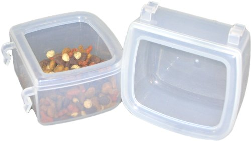 Pet-Carrier-Food-Water-Dish-Spill-Resistant-Hook-On-cups-set-of-2