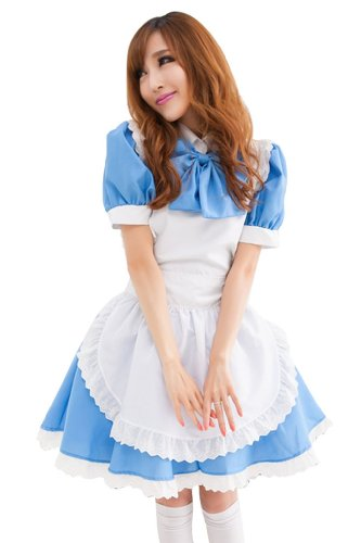 Ninimour- New Sexy Lingerie Japanese Cosplay Lolita French Maid Costume Dress