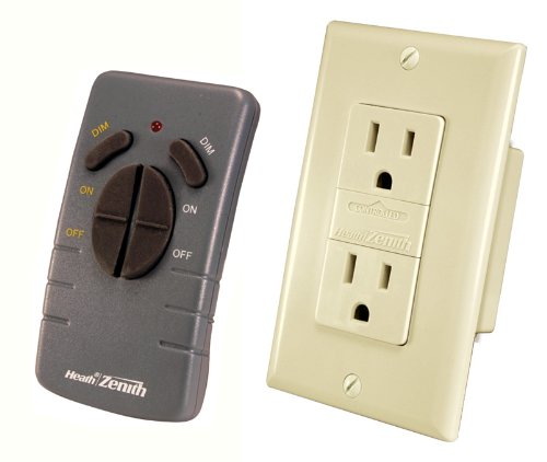 Purchase Heath Zenith WC-6020-IV Wireless Command Remote Control Receptacle Set, Ivory
