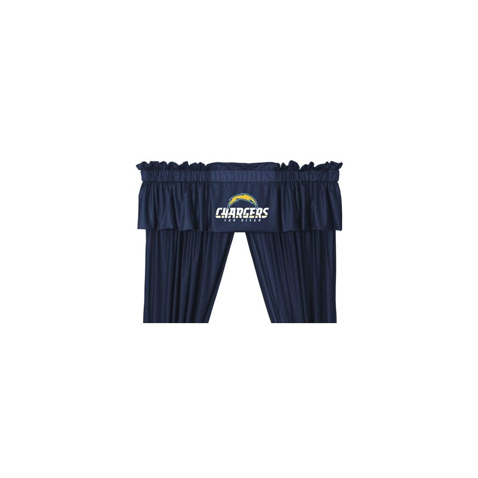 NFL San Diego Chargers 5pc Long Jersey Drapes Valance Set
