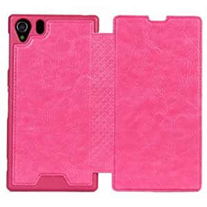 Crazy Horse For Sony Xperia Z1 L39h Wallet Stand PU Leather Case - Rose