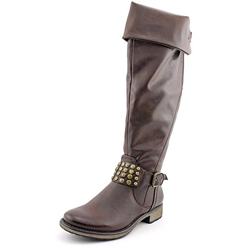 Baretraps Shally Womens Size 7.5 Brown Faux Leather Fashion Over The Knee Boots