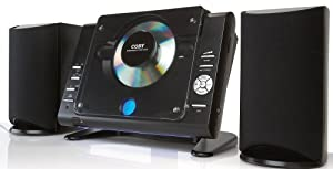 Coby CXCD377 Mico CD Player Stereo System with AM/ FM Tuner (Black) (Discontinued by Manufacturer)