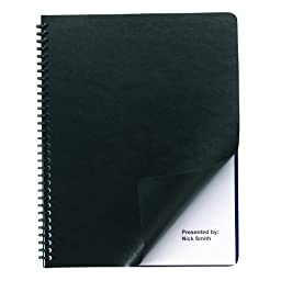 Swingline GBC Regency Premium Presentation Covers, Round Corners, Black, 50 Pack (2001712A)