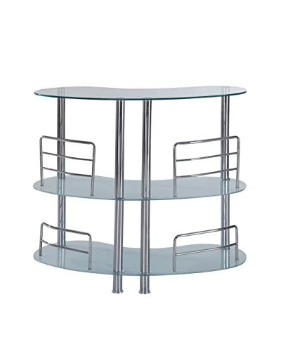 Luxury Home Contemporary Bar Table, Frosted