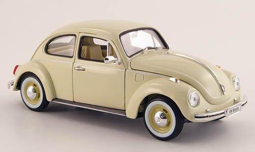 VW-Kfer-beige-mit-Weisswandreifen-1972-Modellauto-Fertigmodell-Welly-124