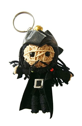 Black Beard Pirates Of The Caribbean Voodoo String Doll Keyring Keychain