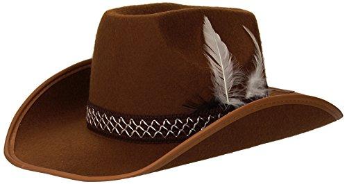 librolandia-2477l-cappelli-cowboy-con-piume-bambino-marroni-feltro