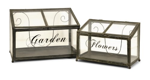 27535-2 Tavaris Metal Greenhouse - Set of 2