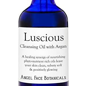 Luscious - Calming Organic Facial Cleansing Oil with Argan Oil 4 Oz from Angel Face Botanicals