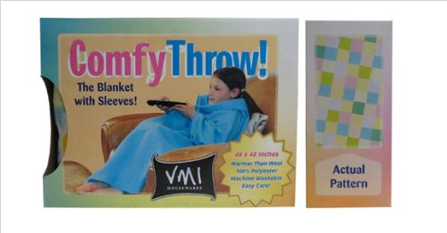 Vmi Kids Comfy Throw, Squares front-438698
