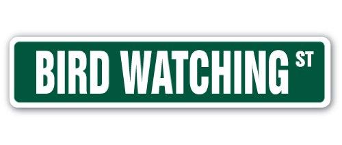 Bird Watching Street Sign Watch Watching Binoculars Outdoors Gag Gift