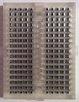41RJ0NydvSL Cheap  Solderless Breadboard 170 tie points CLEAR for Arduino