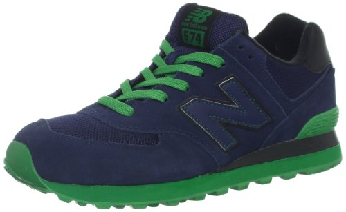 New Balance Men'S Ml574 Sole Pack Collection Fashion Sneaker,Navy/Green,7.5 D Us