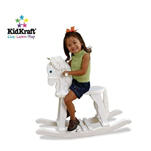 Derby Rocking Horse White