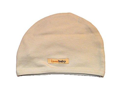 L'Ovedbaby Unisex-Baby Newborn Organic Cute Cap, Stone, New Born front-668734