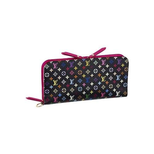 LOUIS VUITTON M93754 ルイヴィトン財布 モノグラム・マルチカラー ポルトフォイユ・アンソリット スナップボタン式Wファスナー長財布 ブラックxグルナード(並行輸入)