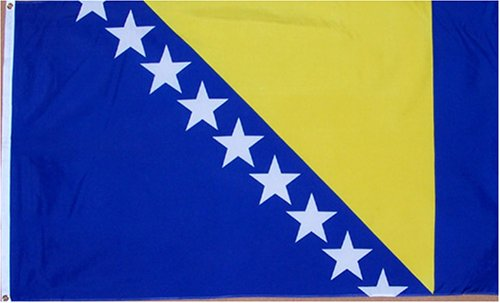 Bosnia-Herzegovina  national flag