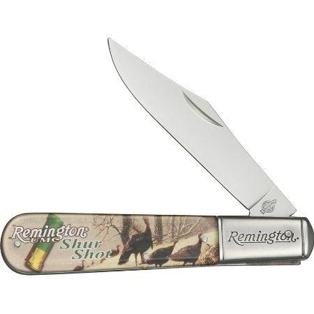 Remington Knives 17612 Vintage Series - Turkeys Shur Shot Large Barlow Knife With Clear Acrylic Handles