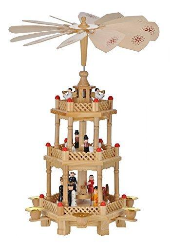 Weihnachtspyramide Pyramide Weihnachten 3 stöckig,ca.42 cm