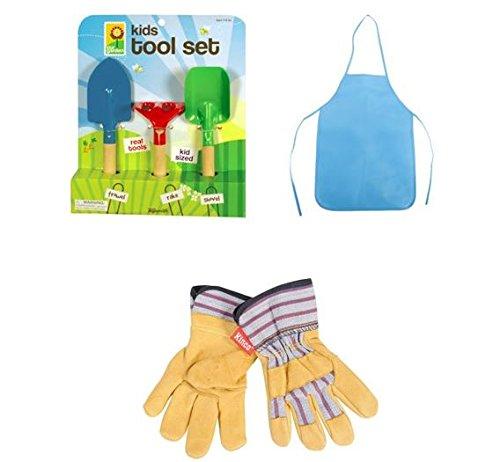 Awardwiki toysmith kids garden gloves small for Gardening kit for toddlers