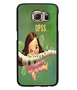 Fuson Cute Doll Back Case Cover for SAMSUNG GALAXY S6 - D3981