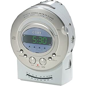 coby cdra140 digital am fm alarm clock radio with cd player electronics. Black Bedroom Furniture Sets. Home Design Ideas