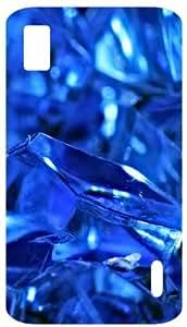 YourStyleCreations Broken Glass Back Cover Case For LG Google Nexus 4 E960 (Blue)