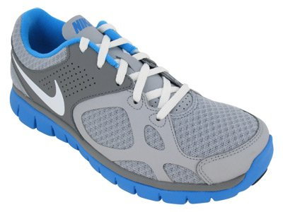NIKE Flex 2012 RN Ladies Running Shoes, Grey/Blue, UK7.5