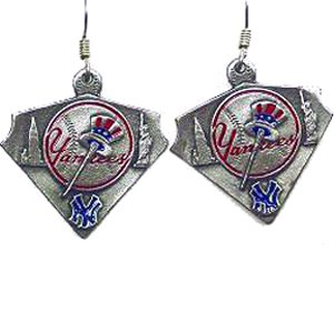 MLB Dangle Earrings - New York Yankees