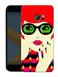 """Humor Gang Chic Confident Girl Printed Designer Mobile Back Cover For """"HTC 10"""" (3D, Matte, Premium Quality Snap On Case)"""