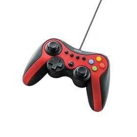 ELECOM ゲームパッド USB接続 Xinput/DirectInput両対応 Xbox系12ボタン振動/連射 【ドラゴンクエストX 眠れる勇者と導きの盟友オンライン推奨】 レッド JC-U3613MRD