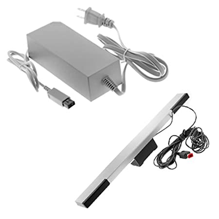 GTMax Infrared Wired Sensor Bar + AC Power Adapter for Nintendo Wii