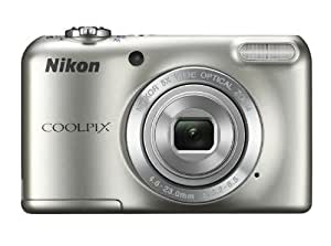 Nikon Coolpix L27 Digitalkamera (16 Megapixel, 5-fach opt. Zoom, 6,9 cm (2,7 Zoll) LCD-Monitor) Kit inkl. 4GB Speicherkarte und Kameratasche silber
