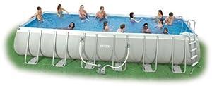 intex swimming pool rechteck stahlwand frame schwimmbad 732 x 366 x 132cm intex inklusive. Black Bedroom Furniture Sets. Home Design Ideas