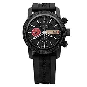 Burberry Sport Limited Edition Men's Automatic Massive Sports Black Ion Case, Chronograph Date Watch with Black Rubber Strap BU7705
