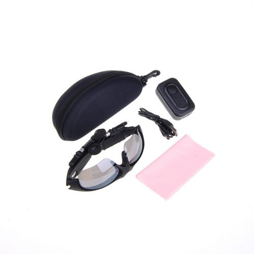 Black 2GB 2G Sports Sunglass Handsfree Wireless Headset MP3 Player Sunglass