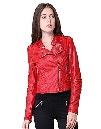 miss coquines veste en simili cuir femme vestes xl rouge v tements et. Black Bedroom Furniture Sets. Home Design Ideas