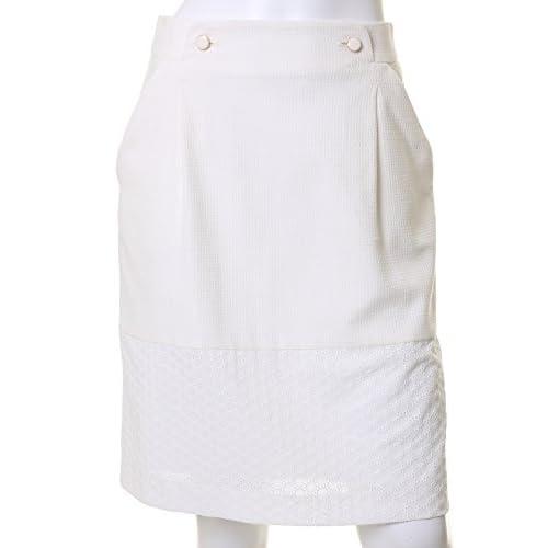 (エフデ)ef-de サークルレース切り替えスカート オフホワイト 09
