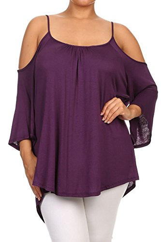 Amazoncom plus size off the shoulder tops Clothing